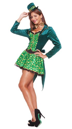 Forum Sexy Leprechaun Costume, Green, Medium (St Patricks Day Vest)