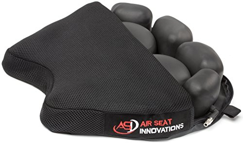 Air Seat Innovations Air Motorcycle Seat Cushion Pressure Relief Pad Large for Cruiser Touring Saddles 15