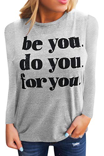Umeko Womens Tank Tops Graphic Tees Funny Crew Neck Sleeveless Workout T Shirts with Sayings (Small, A-Grey)