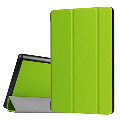 Price comparison product image TOOPOOT Flip Leather Stand Case for Amazon Kindle Fire HD 8 Inch Tablet (green)