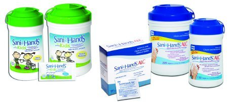 - PDI P15984 Sani-Hands Alcohol Wipes - Large Canister, Case, 6 Canisters, 1320 Wipes, 6