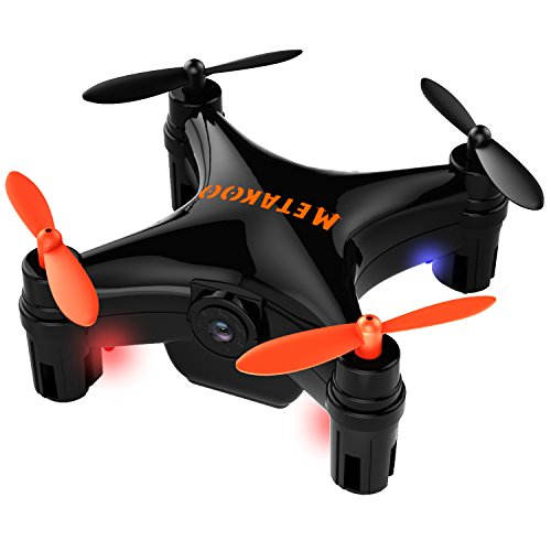 Metakoo Mini Drone con camara y pantalla WiFi 6 Axis Grabar video en Tiempo Real Mini RC Quadcopter con 3 modos de velocidad ajustable por Movil