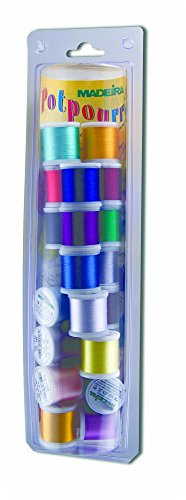 Madeira 20928077R Potpourri Embroidery Thread Value Pack (Madeira Machine Embroidery Thread)