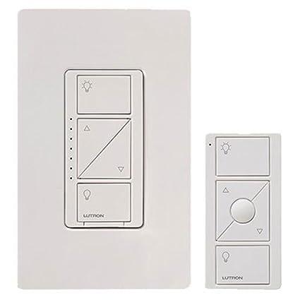 Amazon.com: LUTRON P-PKG1W-WH Caseta Wireless 600-watt/150-watt Multi-Location In-Wall Dimmer with Pico Remote Control Kit, White: Everything Else