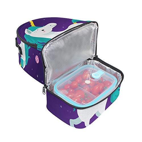 Bolsa la pincnic ajustable Alinlo y almuerzo para de térmica de unicornio con aislante el para correa hombro de con escuela bolsa dRqgnRT