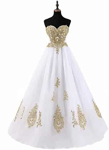41ede989f78 LMBRIDAL Women s Appliqued Quinceanera Dress Sweetheart Birthday Ball Gown  EVD21