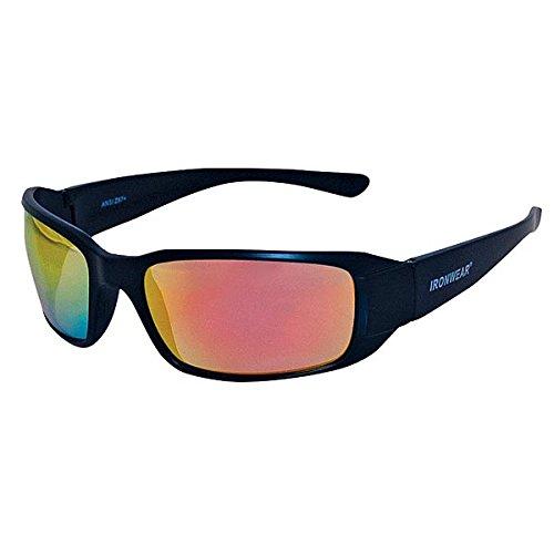 015 Series Nylon Protective Safety Glasses, Orange Mirror Lens, Matte Black Frame (3015M-OM) ()