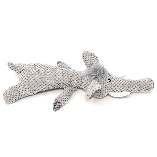 Jiadec Pet Supplies| Dog Squeak Toys Interactive Tough for Medium &Small Dogs (Grey, Elephant) ()