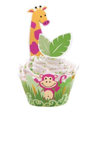 - Wilton Jungle Pals Cupcake Wraps'n Pix, 12 Count