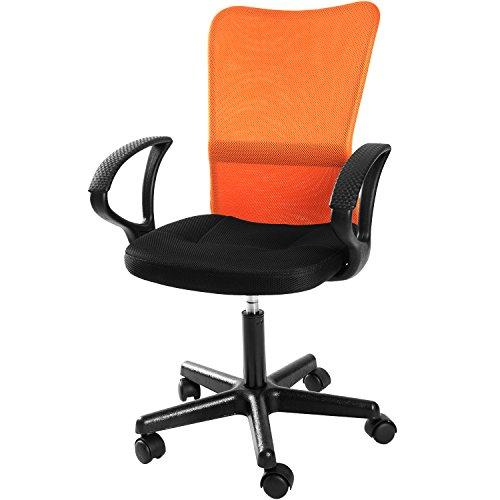Merax Mid Back Mesh Swivel Task Chair Computer Desk Office Chair (Orange)