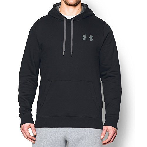 Under Armour Men's Rival Fleece Hoodie, Black/Graphite, Large