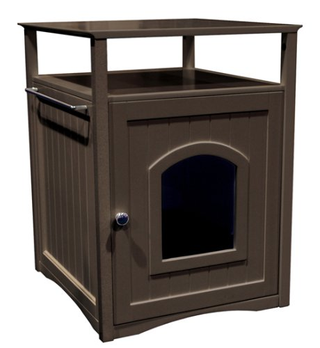 Merry Products Nightstand Pet House/Cat Litter Box Cover Espresso Small