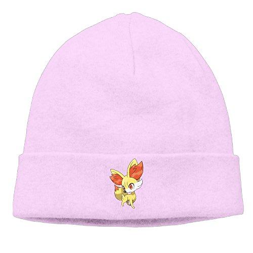 [EWIED Men's&Women's Fennekin Poke Patch Beanie B-boyPink Cap For Autumn And Winter] (Devil Costums)
