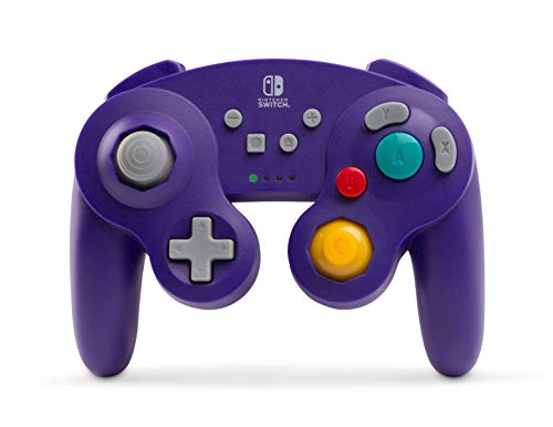 N64 Gamecube - PowerA Wireless GameCube Style Controller for Nintendo Switch - Purple