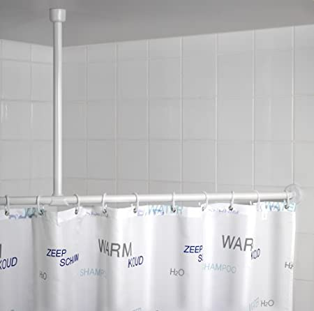 Wenko Ceiling Support For Telescopic Shower Rail, White: Amazon.co ...