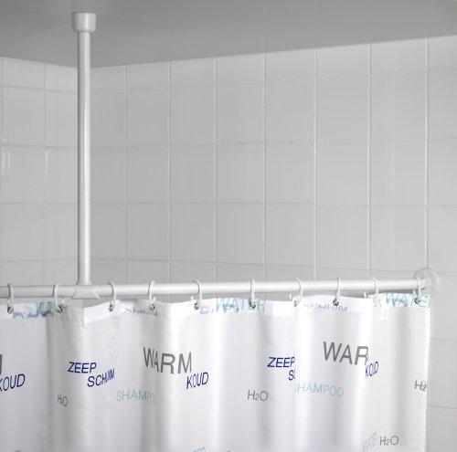 WENKO 19213100 Deckenstütze für Teleskop-Duschstange, Plastik, Weiß