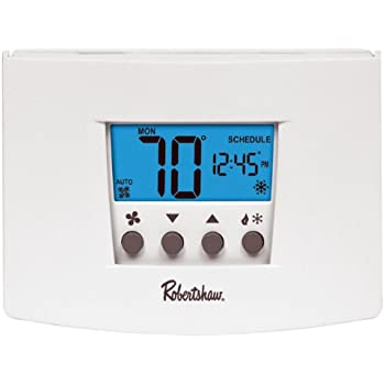 Robertshaw RS4110 Heat Pump/Single Stage 1 Heat/1 Cool Digital Non-Programmable on