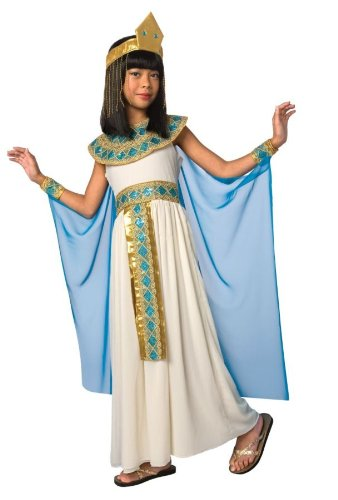 Girls Cleopatra Egyptian Queen Kids Child Fancy Dress Party Halloween Costume, S (4-6)