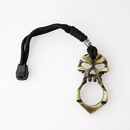 Mixfashion Skull Keychain Self Defense Emergency Survival Tool Mini Emergency Hammer (Bronze)