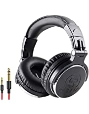 $34 » 2CANZ Over-Ear Professional Wired DJ Headphones - 50mm Neodymium Drivers, Closed Back, Plush Comfrasoft Ear Cushions, 8-Way Adjustable Earpads, Foldable, and Joint Listening