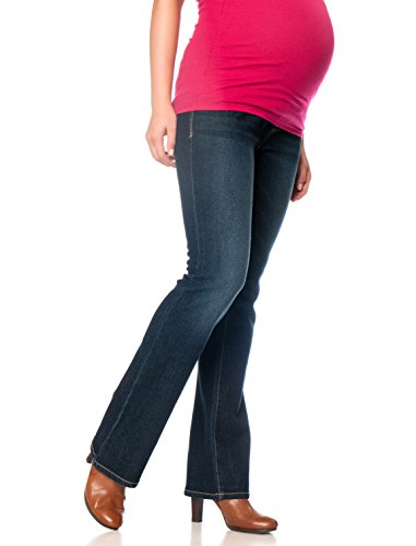 Motherhood Indigo Blue Long Secret Fit Belly Boot Cut Maternity Jeans (Maternity Pants Long compare prices)