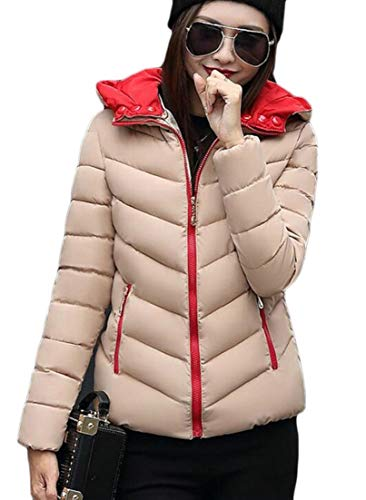 Quilted EKU Coat Women's Jacket Khaki Hooded Puffer Winter Parka Warm Down rHYwqFHPR