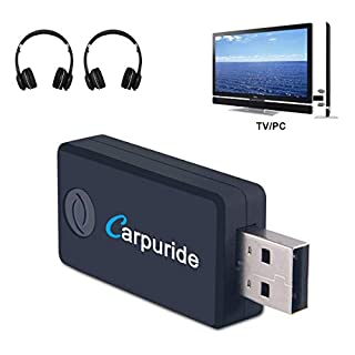Bluetooth Transmitter for TV PC, (3.5mm, RCA, Computer USB Digital Audio) Dual Link Wireless Audio Adapter for Headphones, Low Latency, USB Power Supply