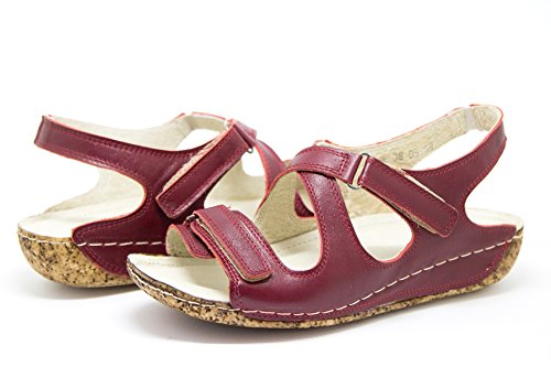 Ks 405 - Ladies Women Sandals Shoes for The Summer Red z93bakJ9s