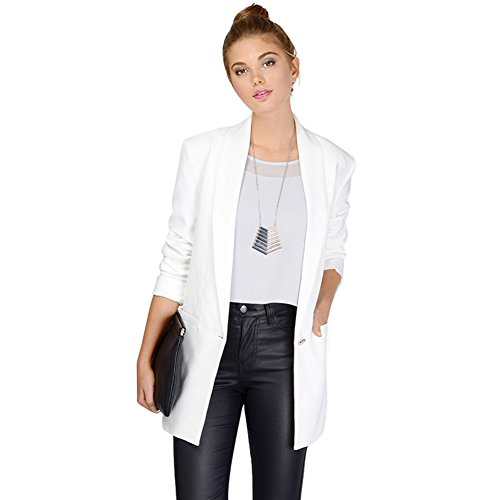 Womens V-neck Lab Jacket (My Wonderful World Women's V-Neck Jacket Outerwear Coats Top Small)