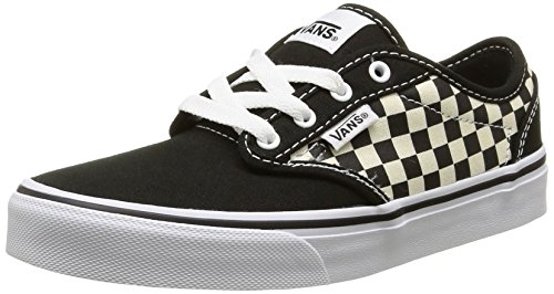 Garçon Black Atwood Noir Baskets Basses Vans Checkers 6qTY6t