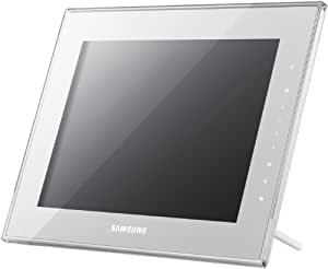 "Samsung SPF-1000W - Marco digital (25,4 cm (10""), 1024 x 768 Pixeles, LCD, BMP, DivX, XviD, MP3, WAV) Color blanco"