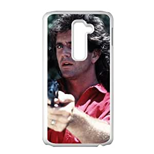 LG G2 Cell Phone Case White Lethal Weapon Phone Case Protective Plastic XPDSUNTR13168