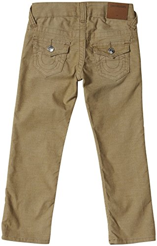True Religion Little Boys' Geno Relaxed Slim Classic Corduroy Pant, Beach Nut, 4T