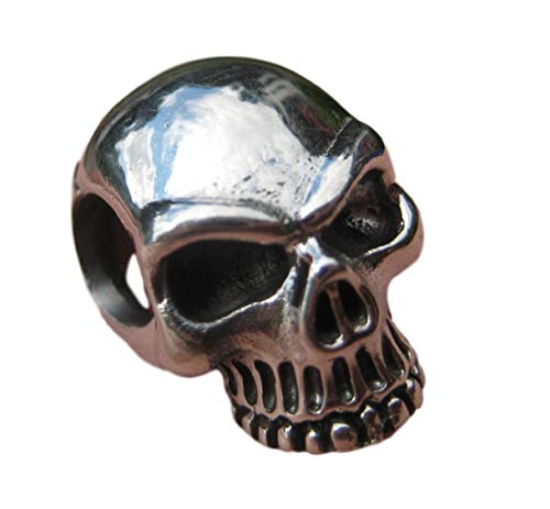 925 Silver Skull Pendant Necklace Thailand Jewelry Art A2845