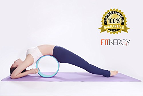YOGA WHEEL FREE Carry Bag Strongest & Comfortable Thick Cushion Stretch Back Bends & Aches Relieve Improve Balance Hold 450lb Dharma Equipment Mat Stretch Strap Physical Therapy Bands
