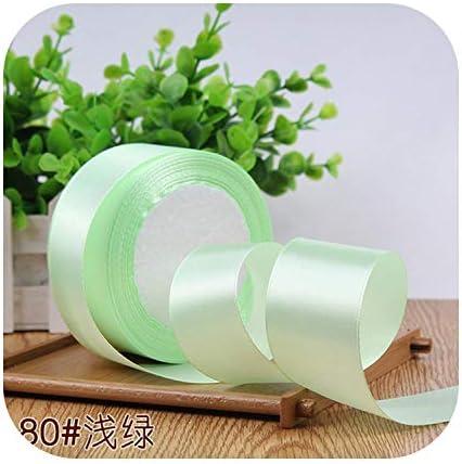 kawayi-桃 6/10/15/20/25/40 / 50mmサテンリボンDIY人工シルク工芸用品ソーイングアクセサリースクラップブッキング素材ギフトボックスベルト-Light green-10mm