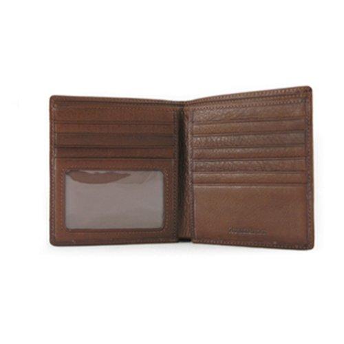 Osgoode Marley Mens ID Hipster Bifold Wallet (Brandy)