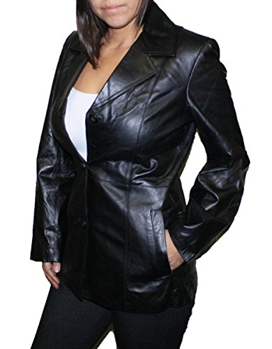 3 Button Womens Leather Jackets - 5