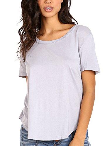 (Splendid Women's Very Light Jersey Scoop Tee Dove Grey T-Shirt)