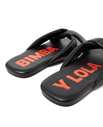 Bimba y Lola Damen Black Tubular Straps Sandal 181BZ0707
