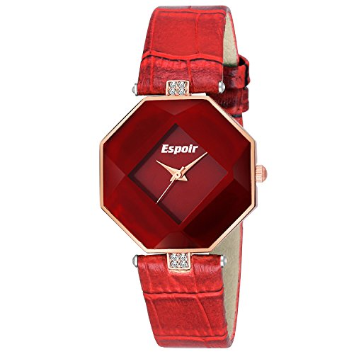 Espoir Stylsih Latest Red Dial Girl's and Women's Watch - St