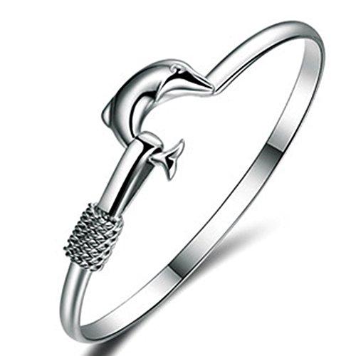 Richy-Glory - 925 sterling silver Bangle bracelets Dolphin lover