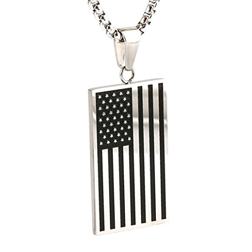 The best american flag jewelry see reviews and compare hzman stainless american pendant necklace aloadofball Choice Image