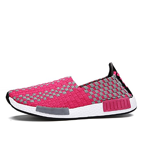 Blanco Elasticated Low 35 Rosa House Mujeres Peggie amp; 44 Top Zapatillas Tamaño Zapatos estiramiento OwASxqHUxX