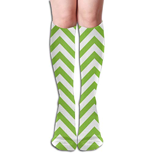 Socks Lime Green and White Chevron Inspiring Womens Stocking Decoration Sock Clearance for Girls