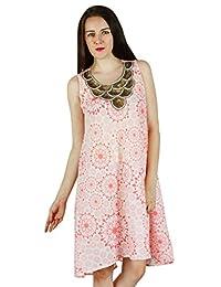 Women Beach Dress Cotton Assymetric New Tunic Casual Summer Sundress