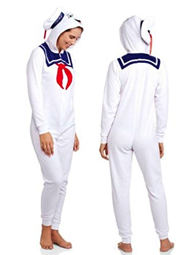 Ghostbusters Stay Puft Marshmellow Women's Union Suit Pajamas (M 7-9)