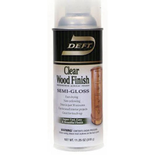 Deft Interior Water-Based Clear Wood Finish Semi-Gloss Spray, 12-Ounce - Faux Spray Finish