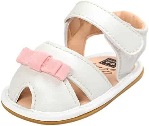 f8ad87884dd VESNIBA Baby Girl Sandals Shoe Casual Shoes Sneaker Anti-Slip Soft Sole  Toddler