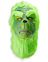 Grinch Mask Christmas Costume Full Head Latex Masks (Hairs)